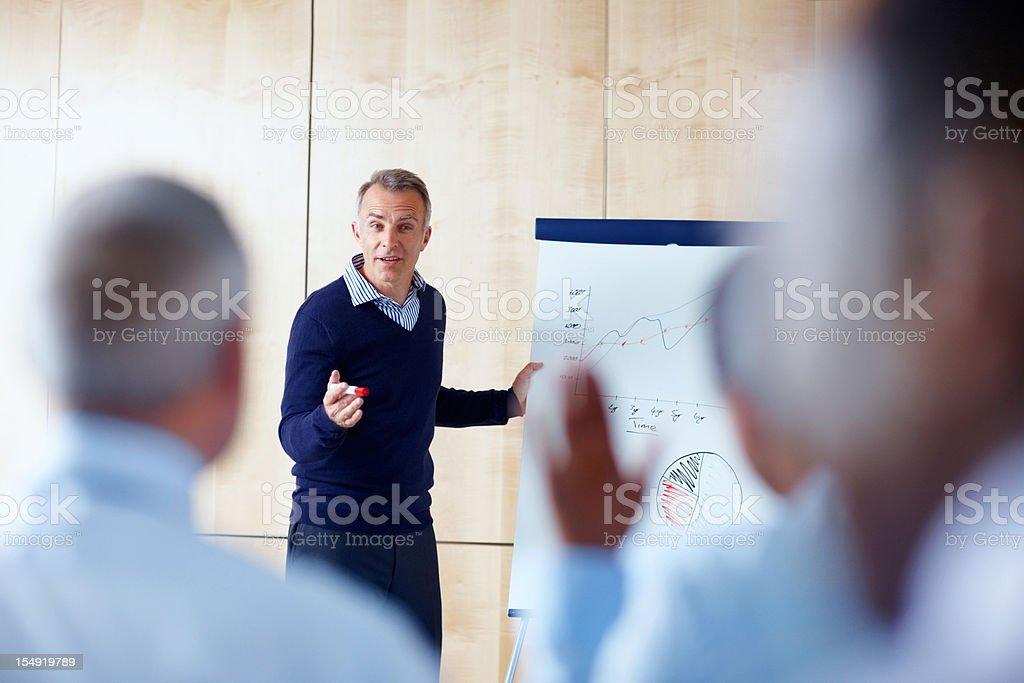 Senior executive presenting to group royalty-free stock photo