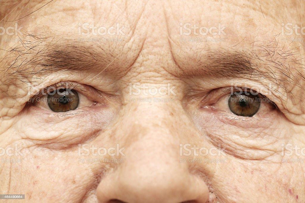 Senior face stock photo