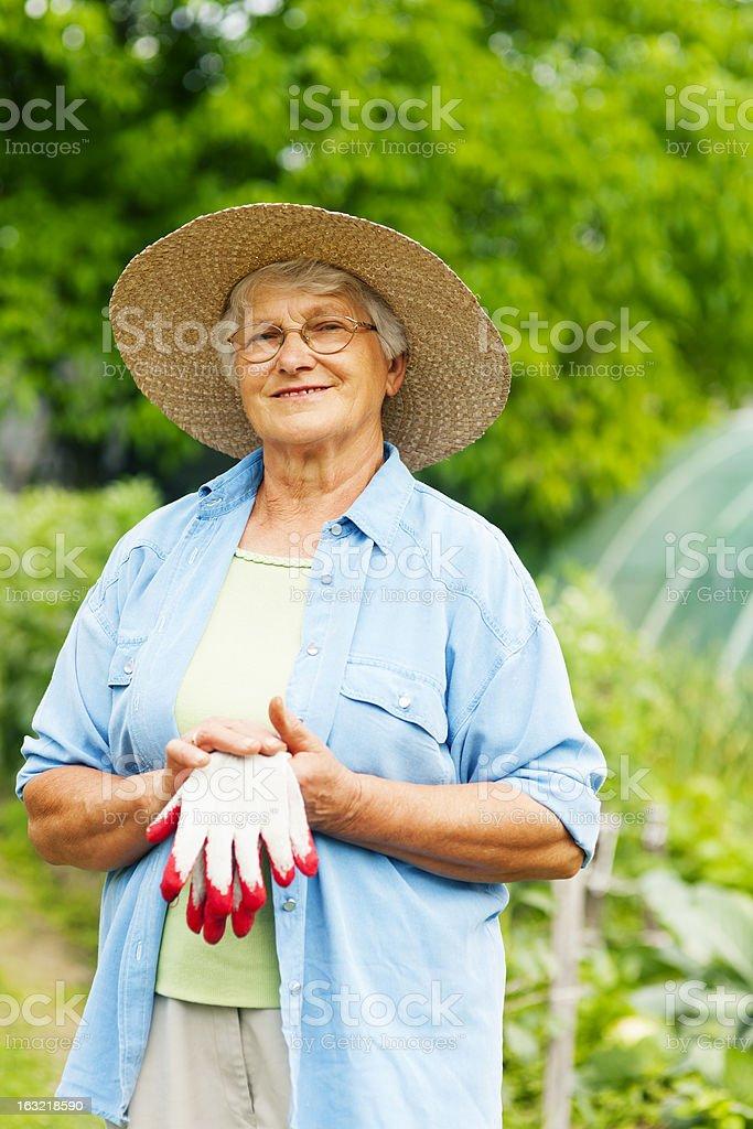 Senior farmer royalty-free stock photo