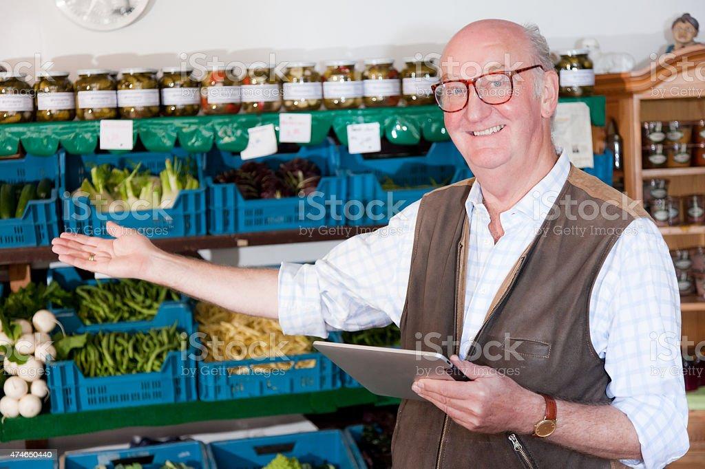 Senior Farmer stock photo