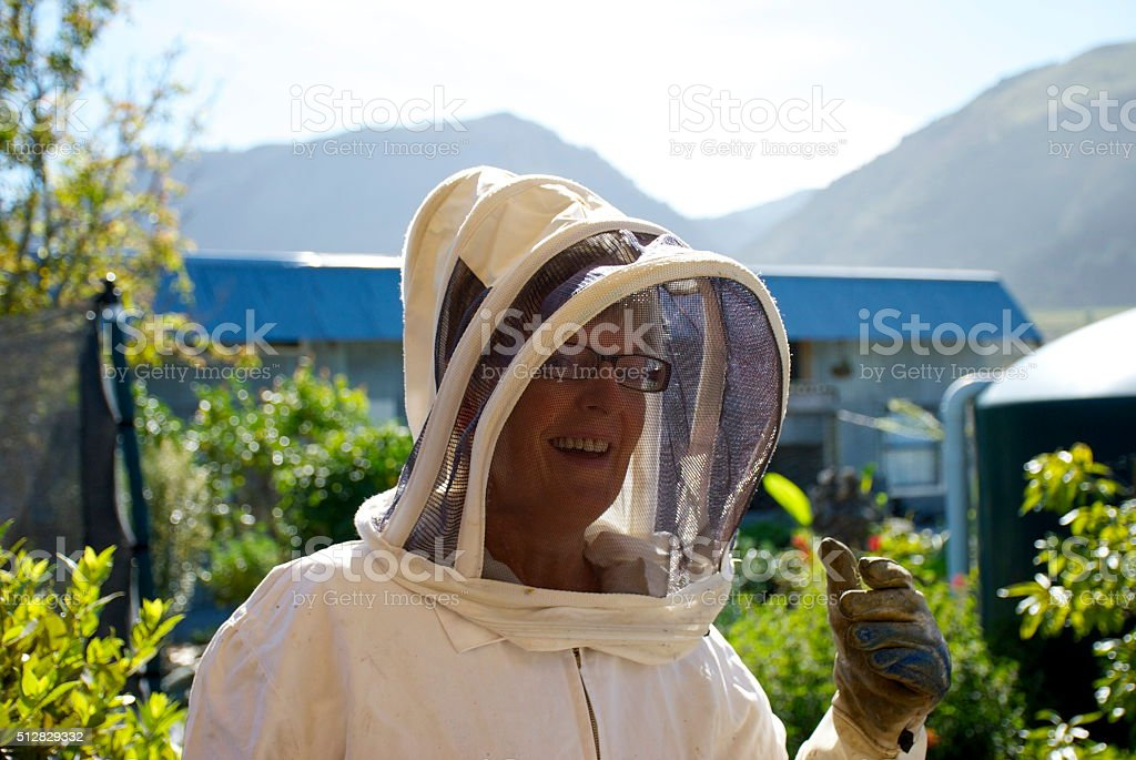 Senior Female Beekeeper stock photo