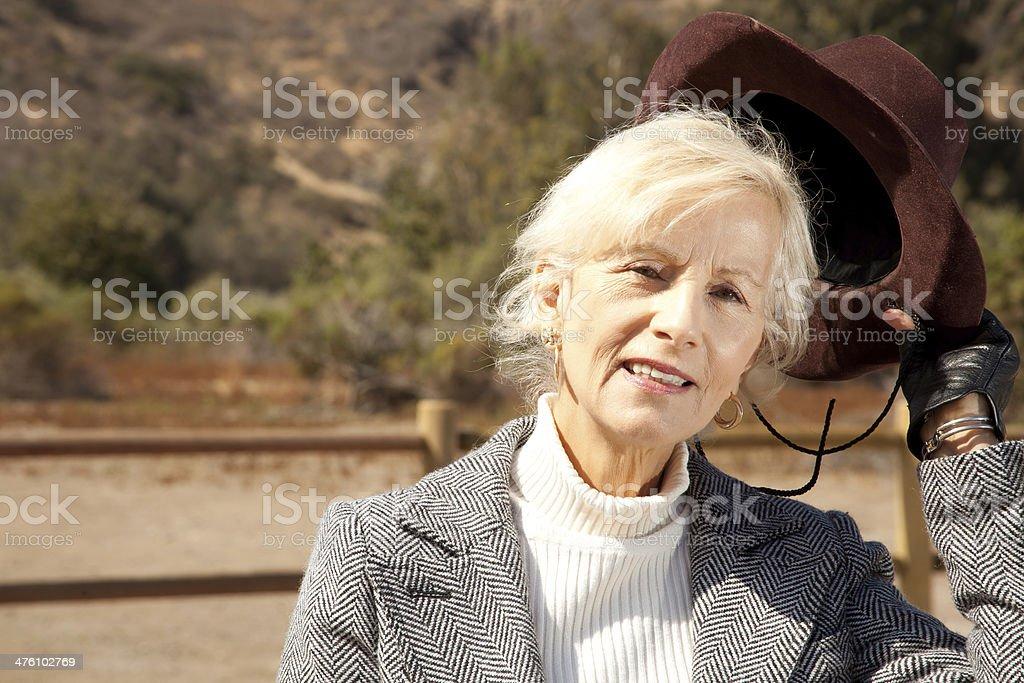 Senior Female Close-up royalty-free stock photo