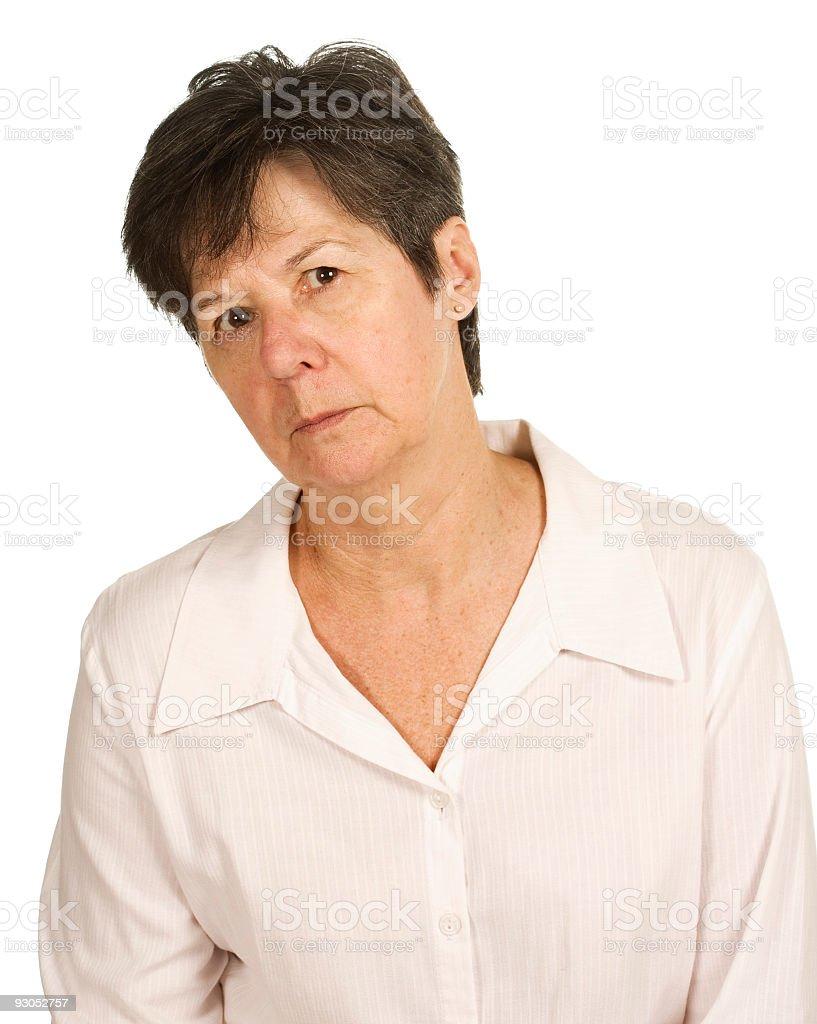 Senior Female stock photo