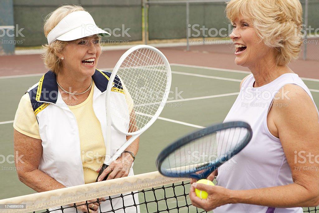 Senior Female Tennis Players royalty-free stock photo