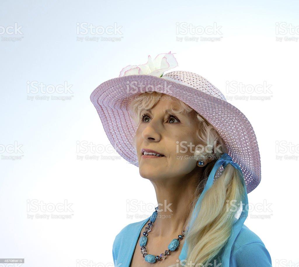 Senior Female With Hat stock photo