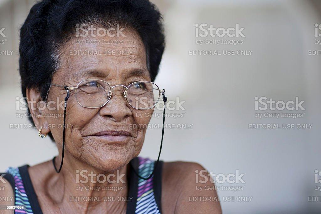 Senior filipino woman royalty-free stock photo