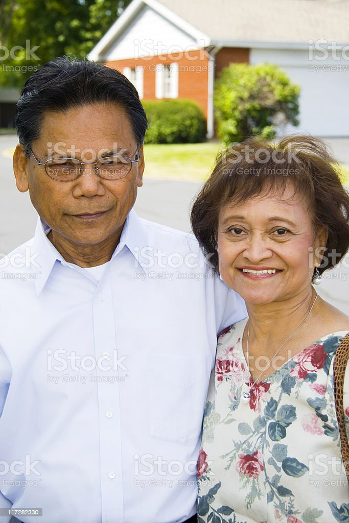 Senior Filpino Couple royalty-free stock photo