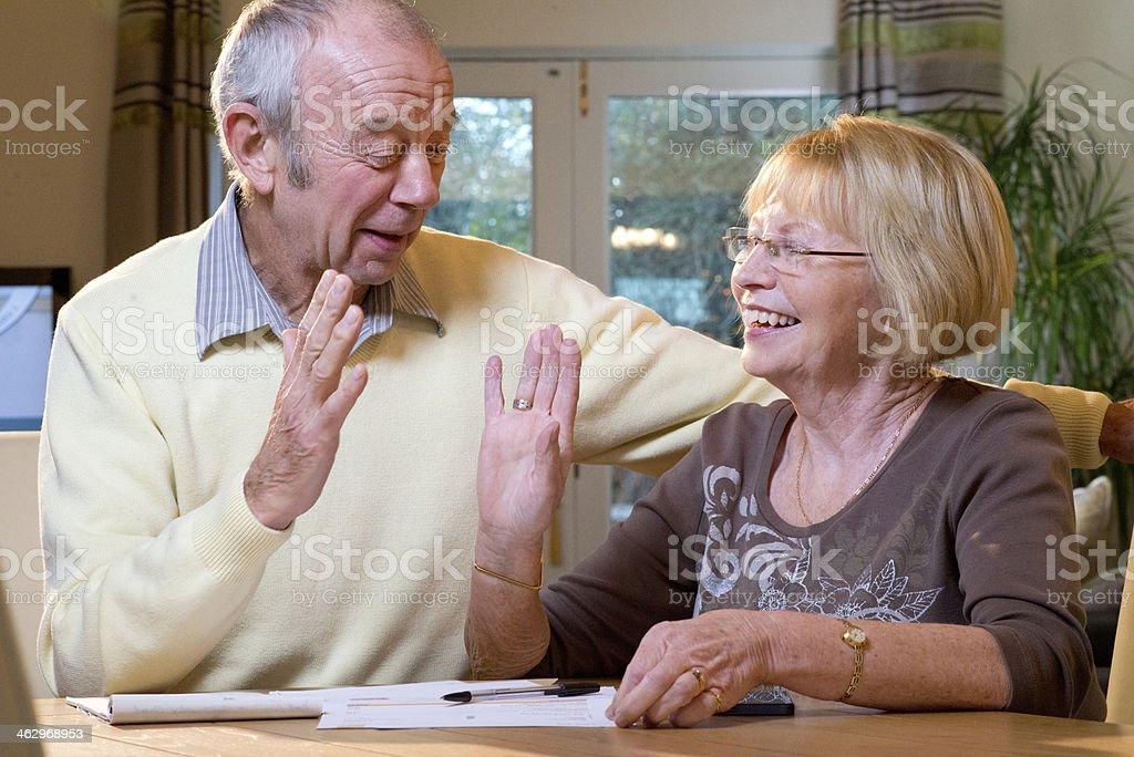 senior finances stock photo