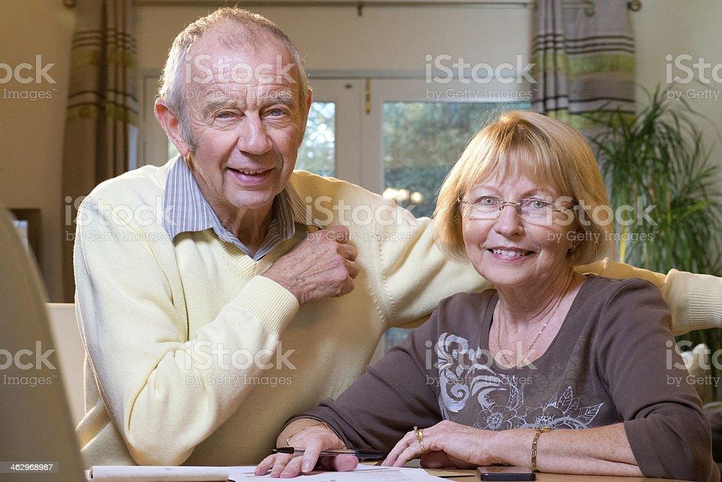 senior finances royalty-free stock photo