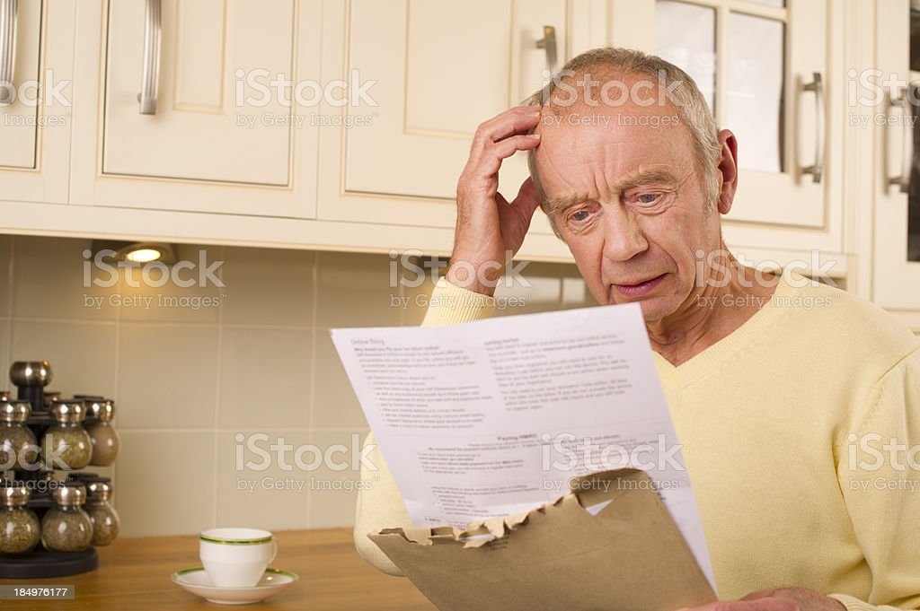 senior financial worry royalty-free stock photo