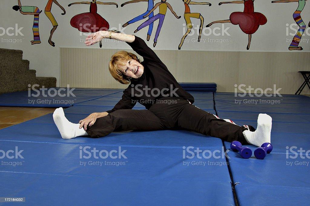 Senior Fitness Flexibility royalty-free stock photo