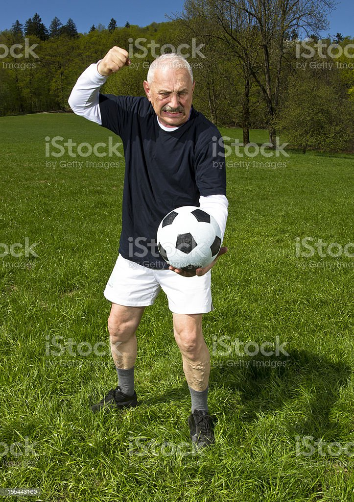 Senior football player royalty-free stock photo