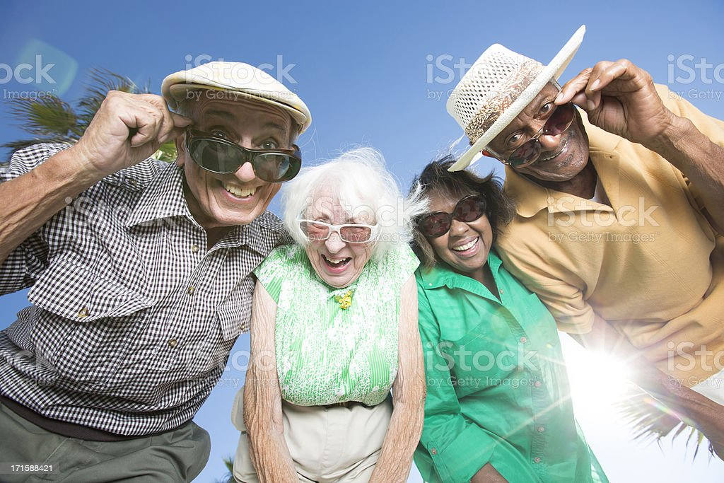 Senior friends royalty-free stock photo