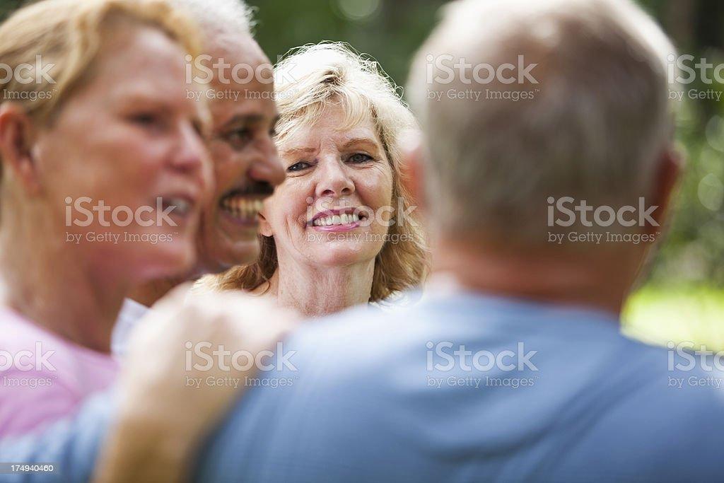 Senior friends stock photo