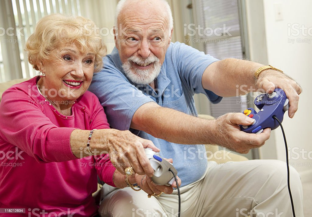 Senior Gamers stock photo