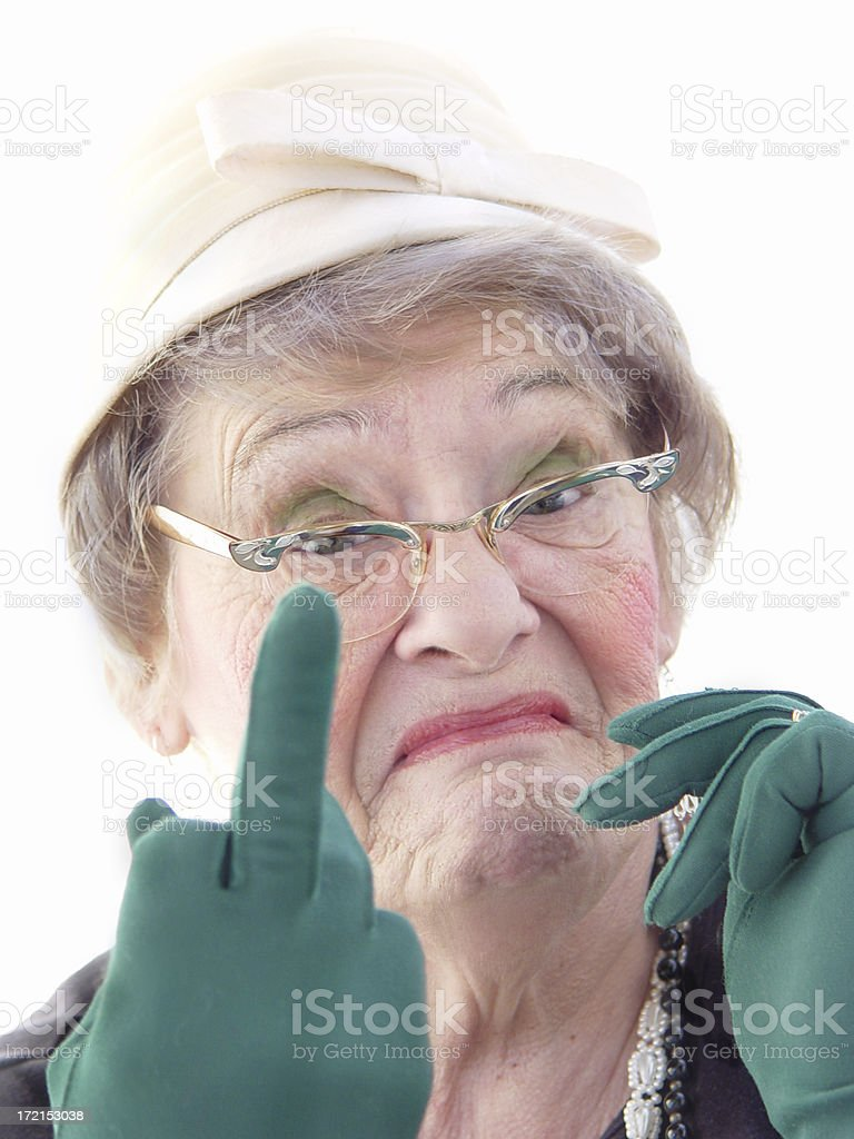 senior - gaudy and rude stock photo