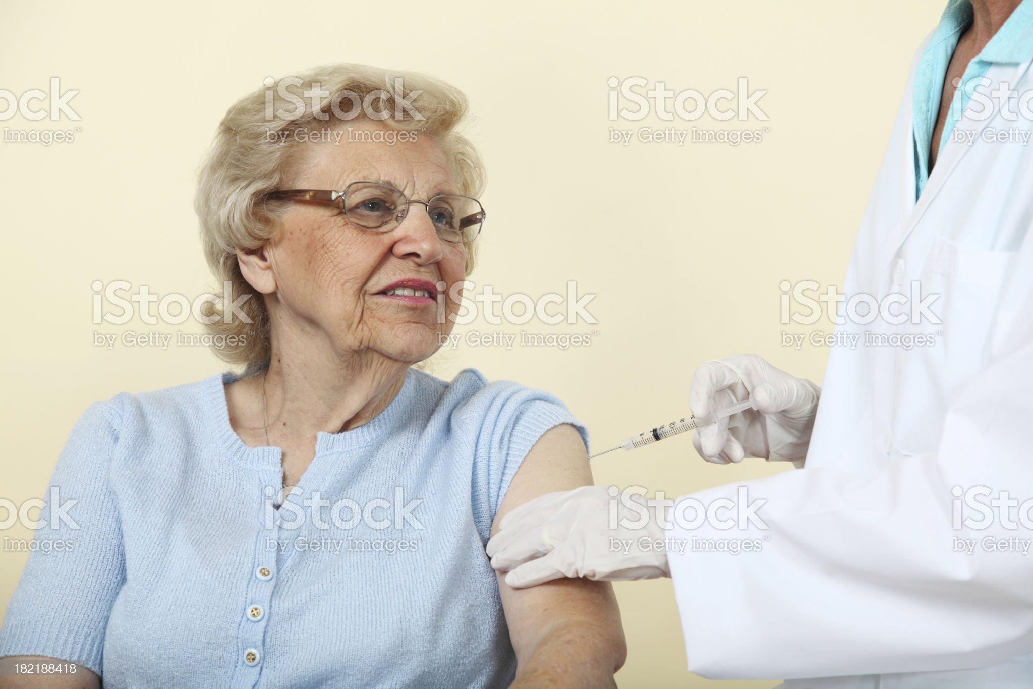 Senior Getting A Shot royalty-free stock photo