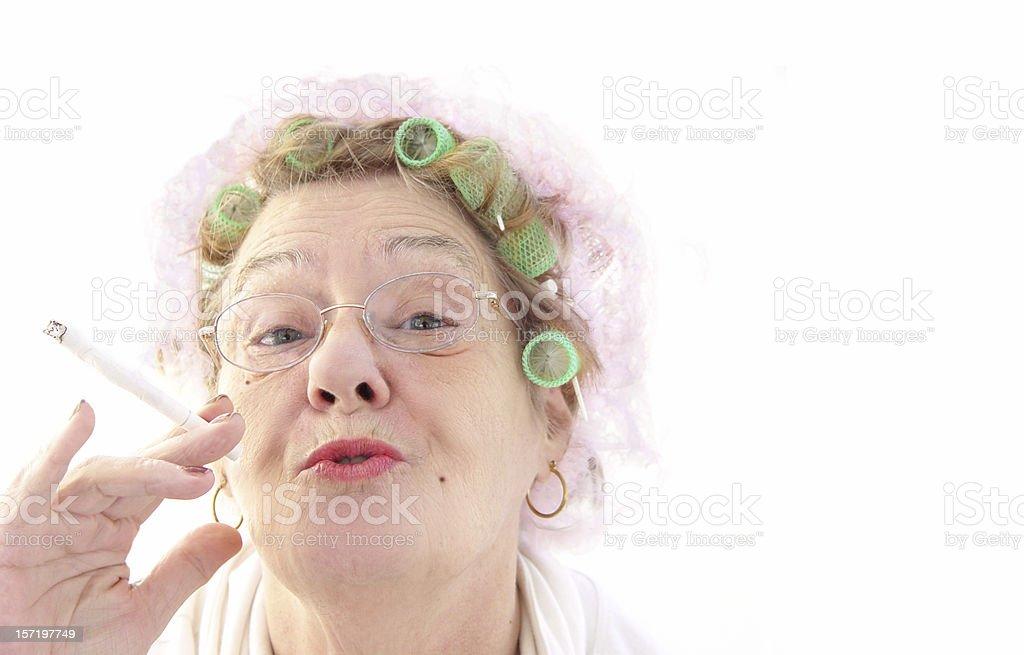 senior - glamor girl stock photo
