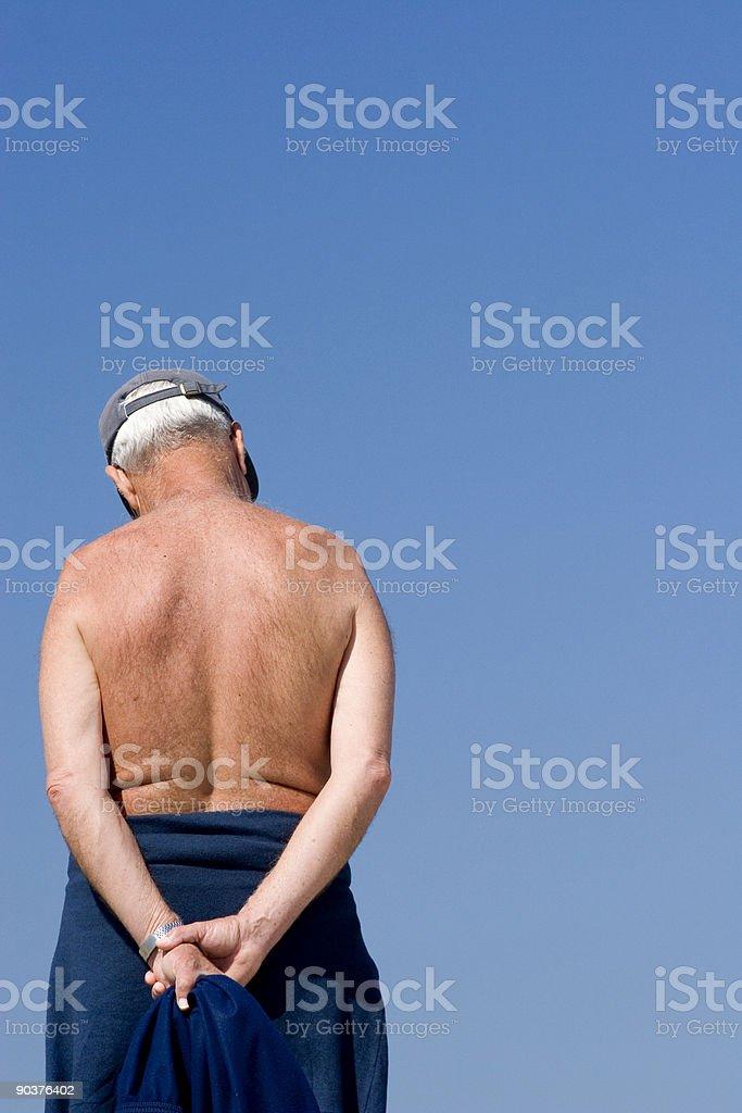 Senior grandfather pensioner 02 stock photo