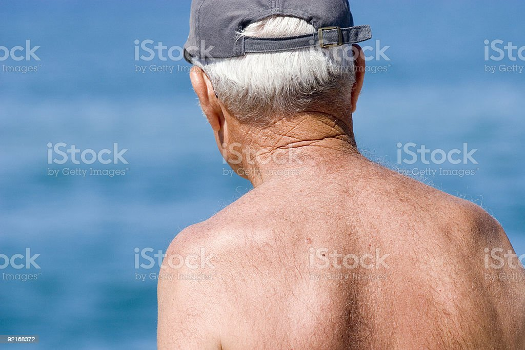 Senior grandfather pensioner 03 stock photo