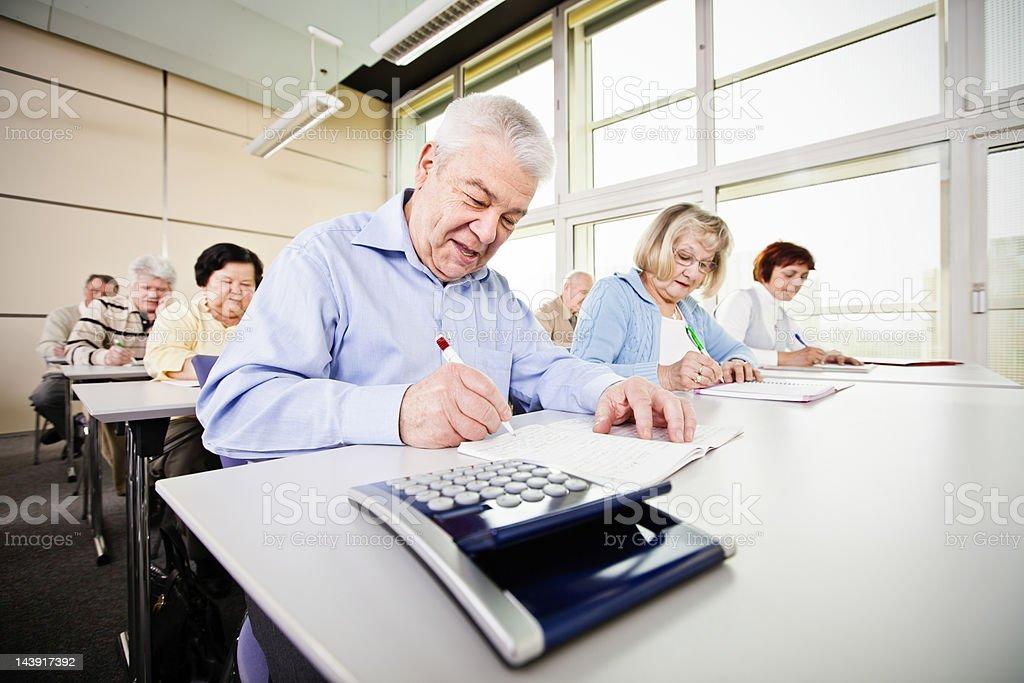 Senior group on business seminar royalty-free stock photo