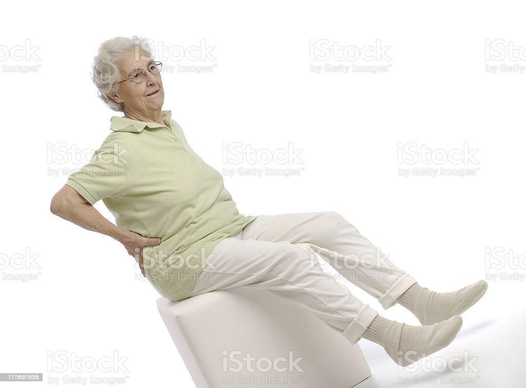 Senior gymnastic stock photo