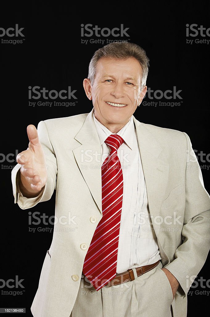 senior handsome businessman royalty-free stock photo