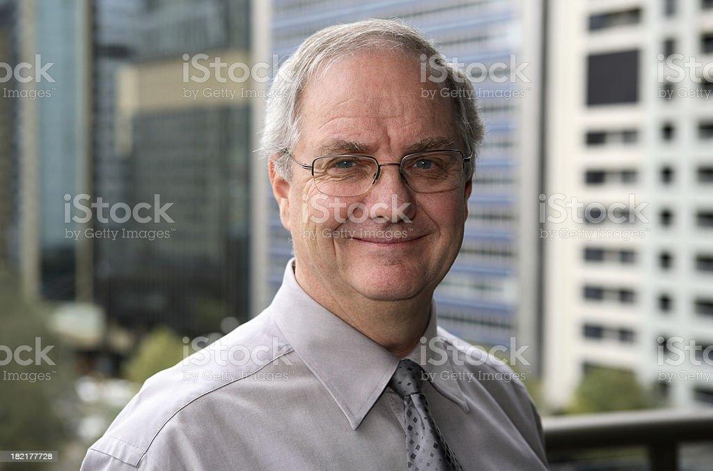 Senior Happy Businessman royalty-free stock photo