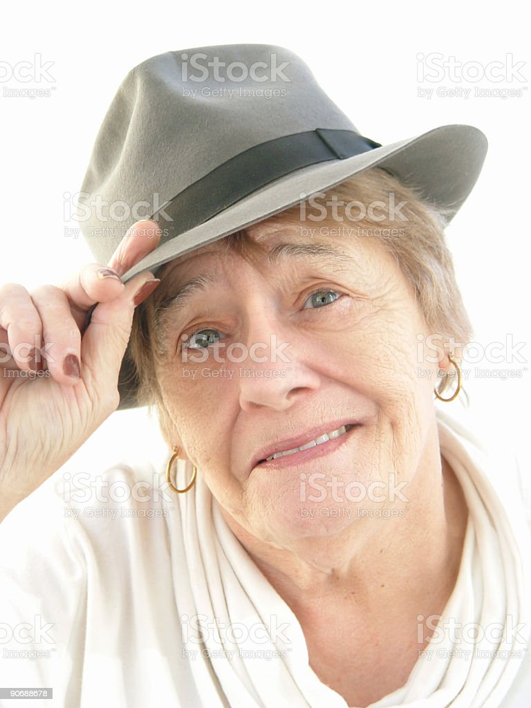 senior - hats off to you! stock photo