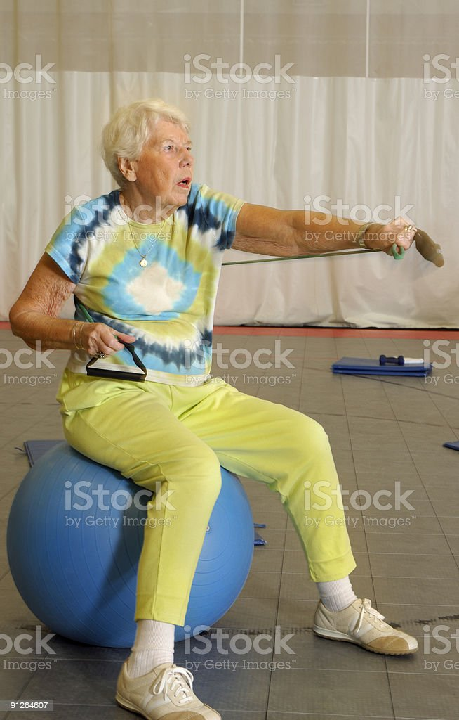 Senior Health and Fitness Aerobic Workout royalty-free stock photo