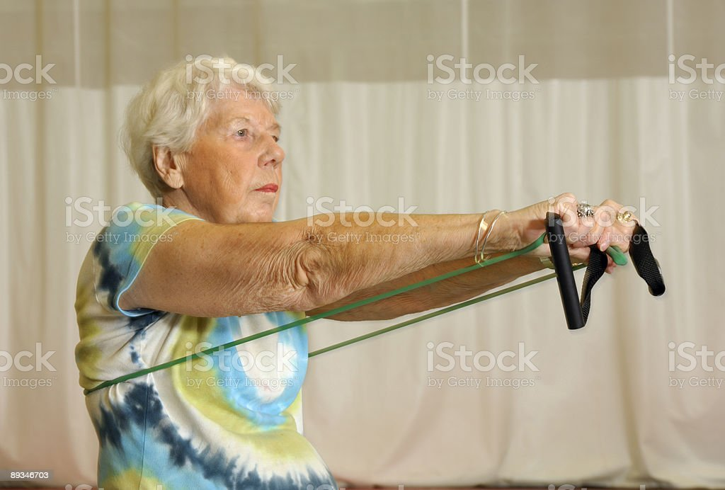 Senior Health and Fitness Upper Body Workout royalty-free stock photo