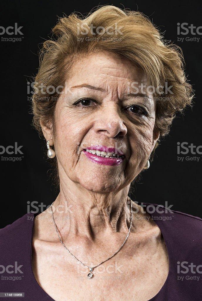 Senior hispanic woman royalty-free stock photo
