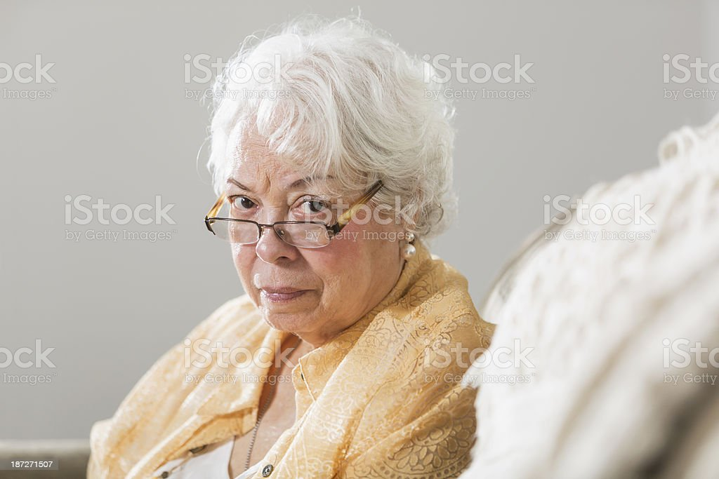 Senior Hispanic woman royalty-free stock photo