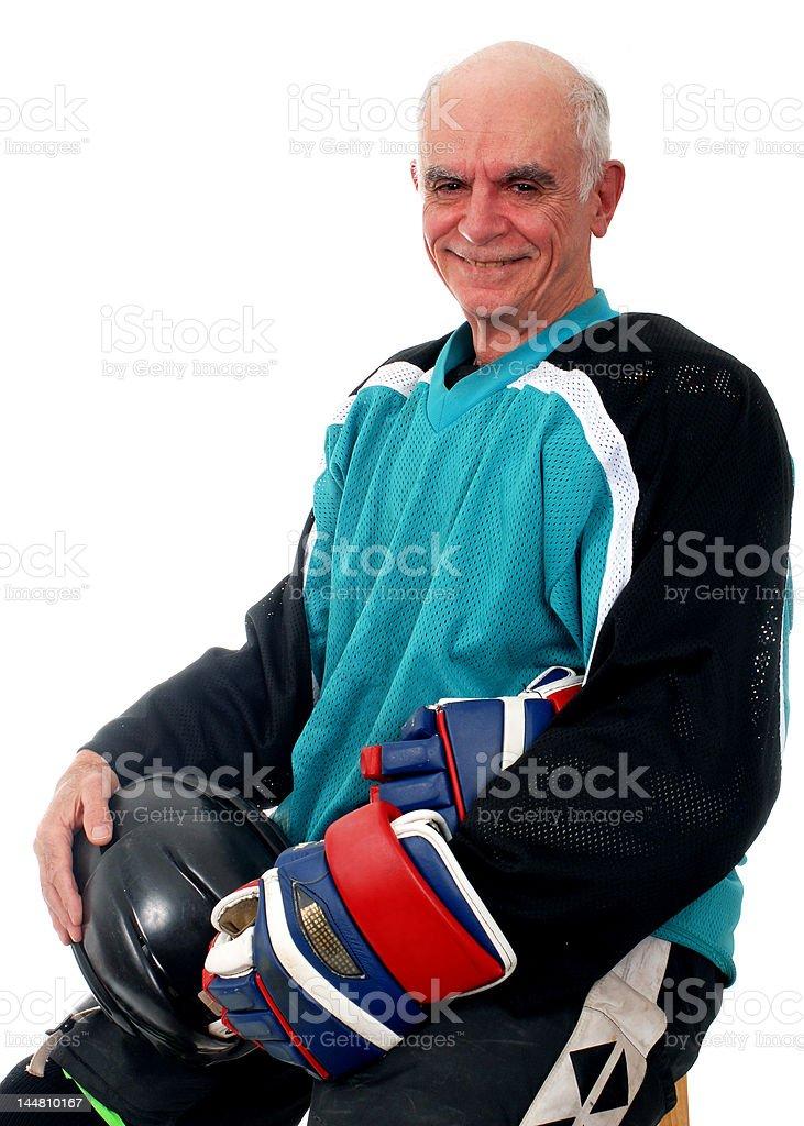 Senior Hockey Player stock photo