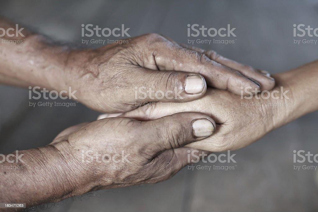 Senior Holding Hands stock photo
