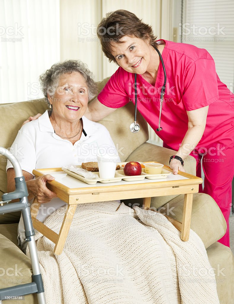 Senior Home Meal Delivery royalty-free stock photo