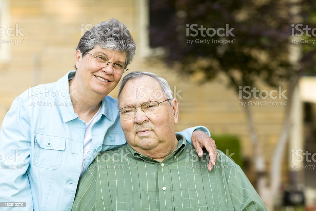 senior homeowners royalty-free stock photo