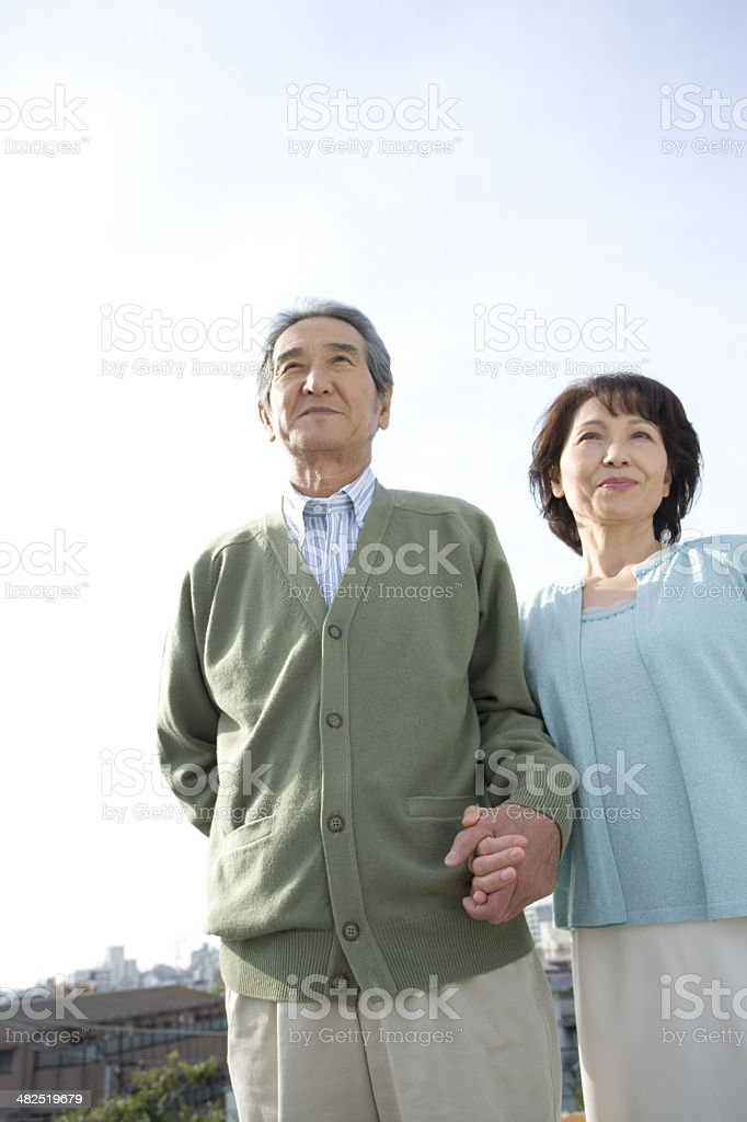 Senior husband and wife royalty-free stock photo