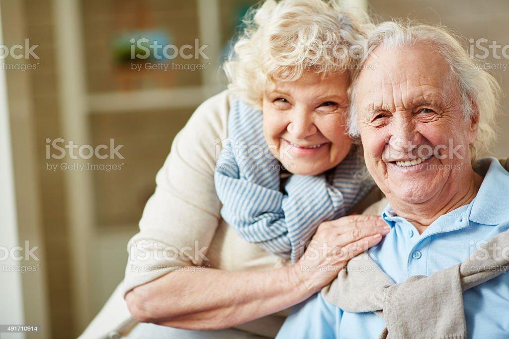 Senior husband and wife stock photo
