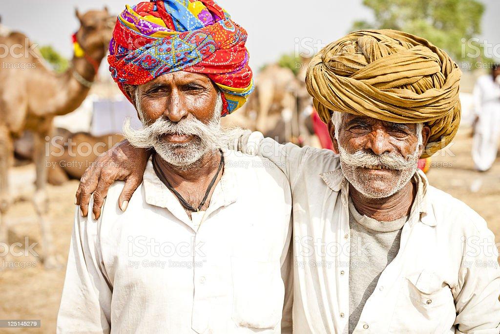 Senior Indian Friends stock photo