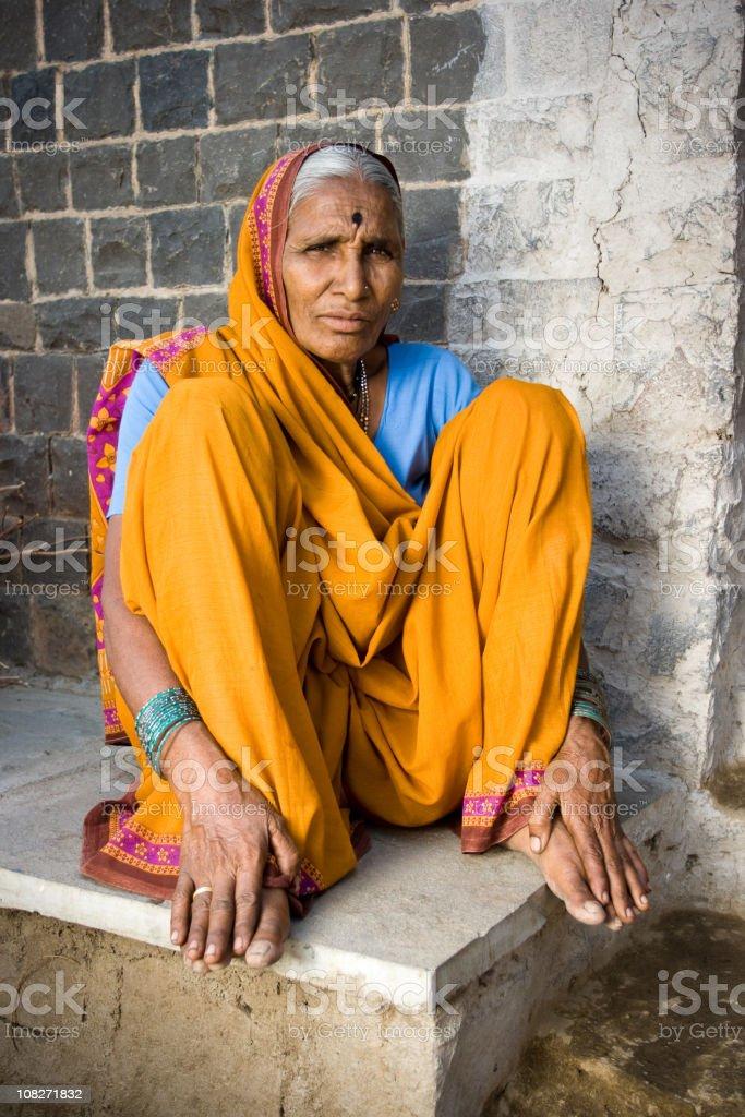 Senior Indian lady royalty-free stock photo