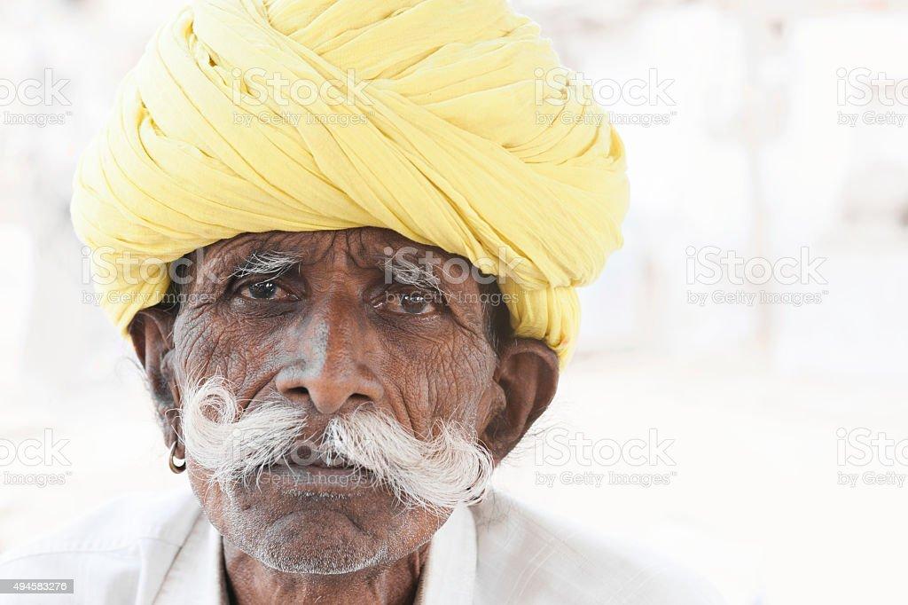 Senior Indian Man Portrait stock photo