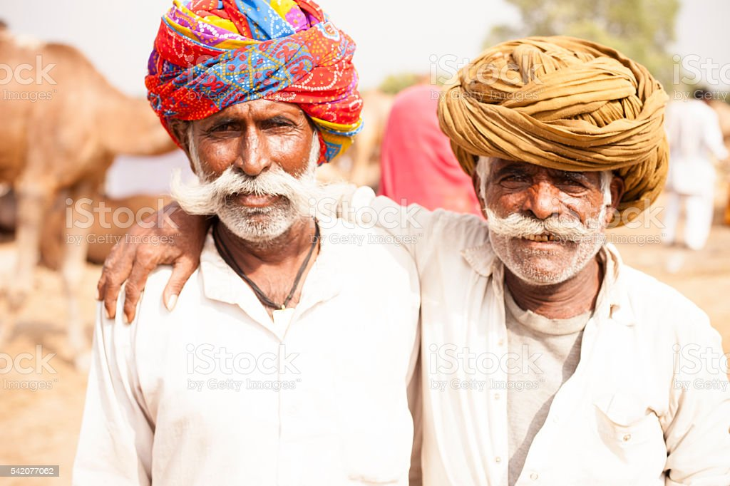 Senior Indian Men Friends stock photo