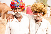 Senior Indian Men Friends