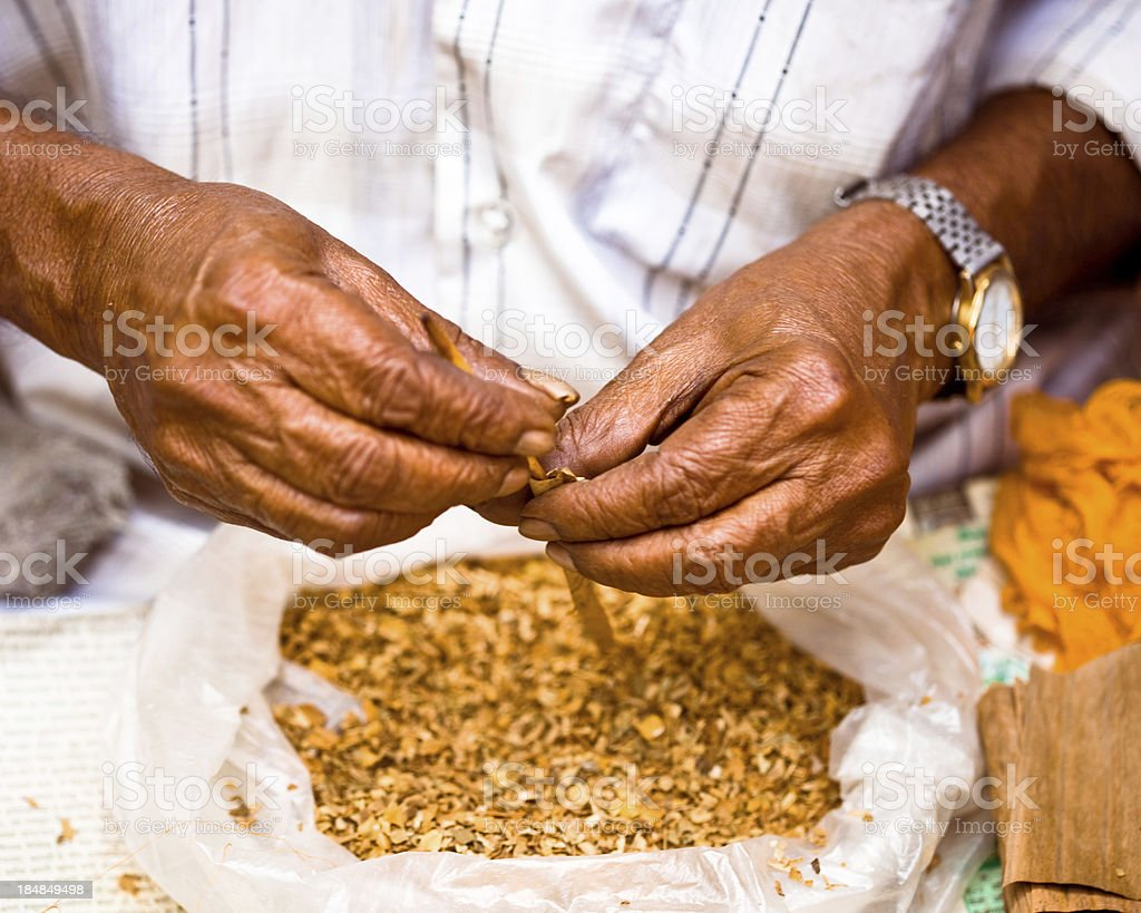 Senior Indian rolling biddies stock photo