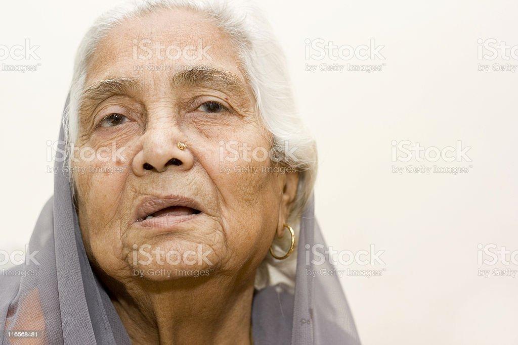Senior Indian woman lady female royalty-free stock photo