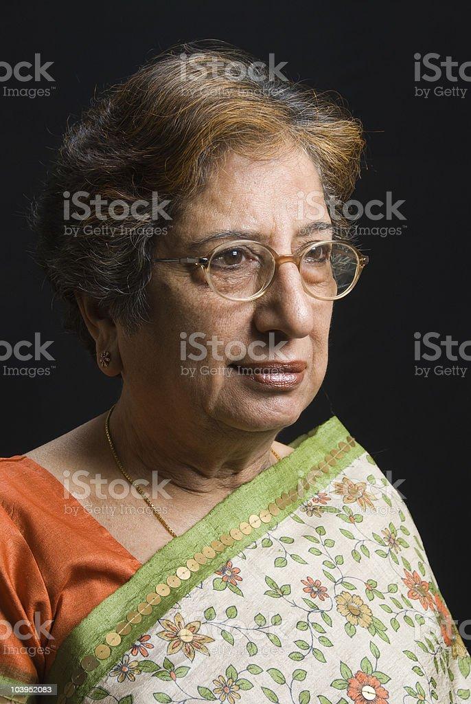 Senior Indian woman stock photo