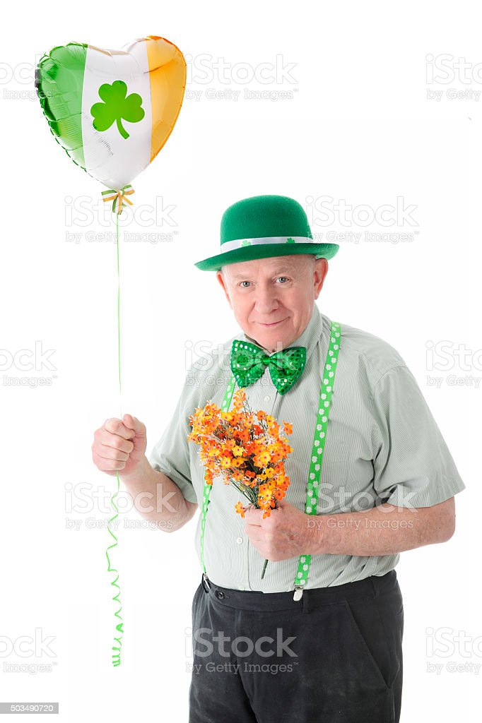Senior Irish Lover stock photo
