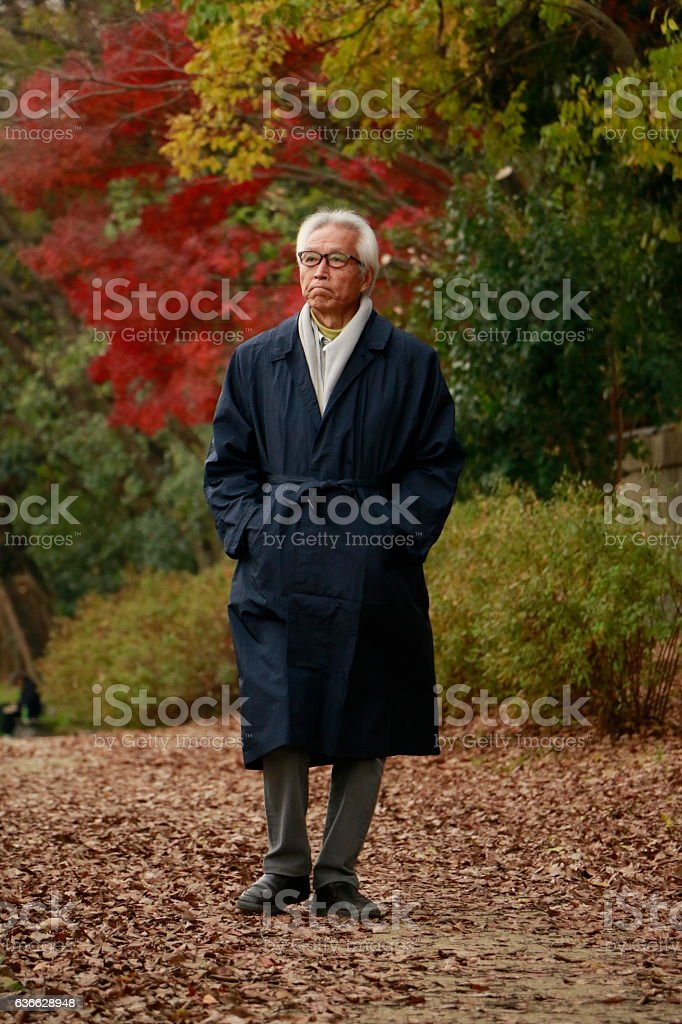 Senior Japanese man stock photo