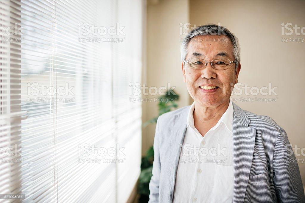 Senior japanese Man Portrait stock photo